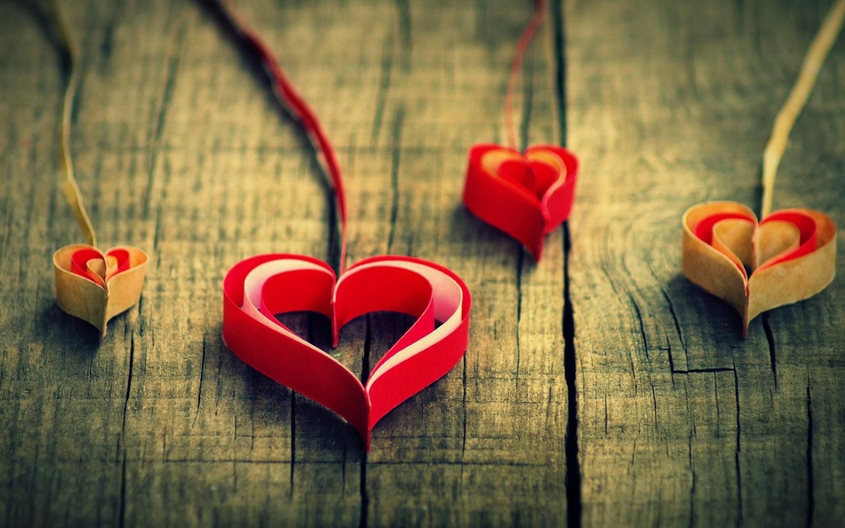 Mood Hearts Paper Origami Love
