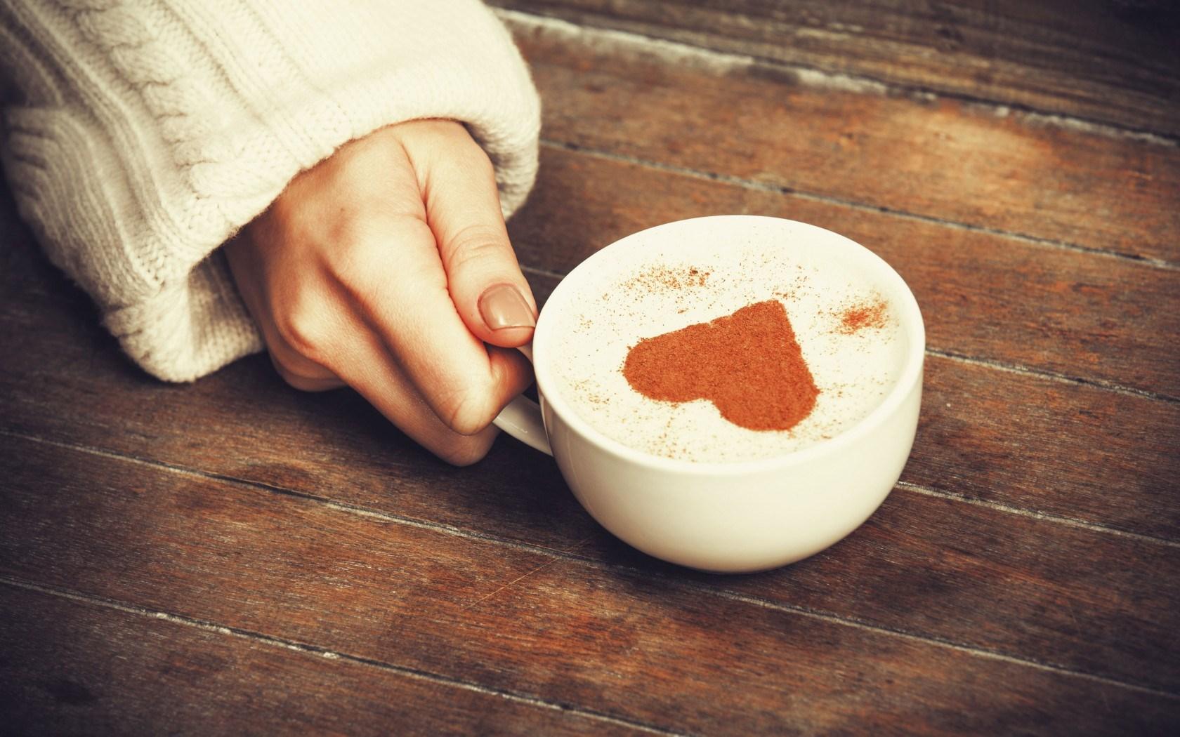 Mood Mug Cup Heart Cappuccino Girl