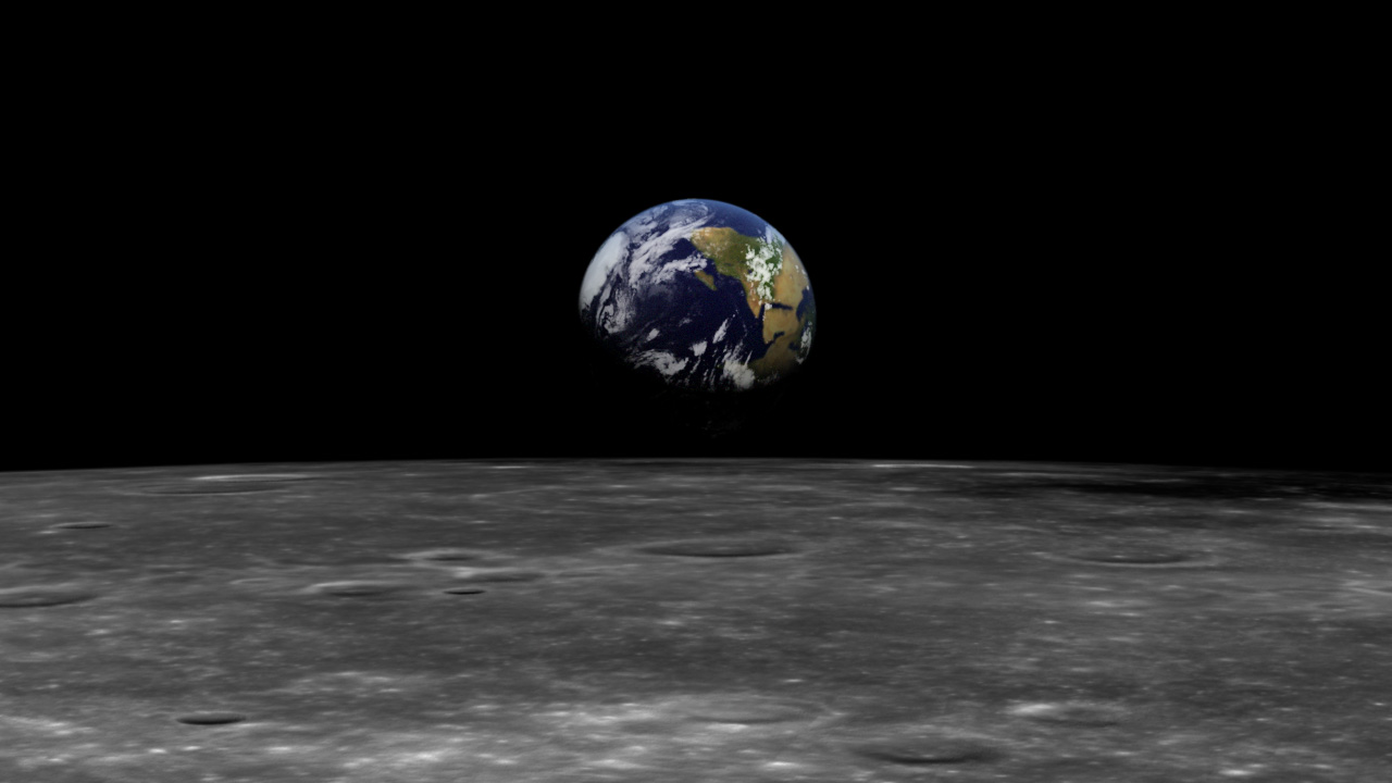 ... Image of Earth from the Moon ...