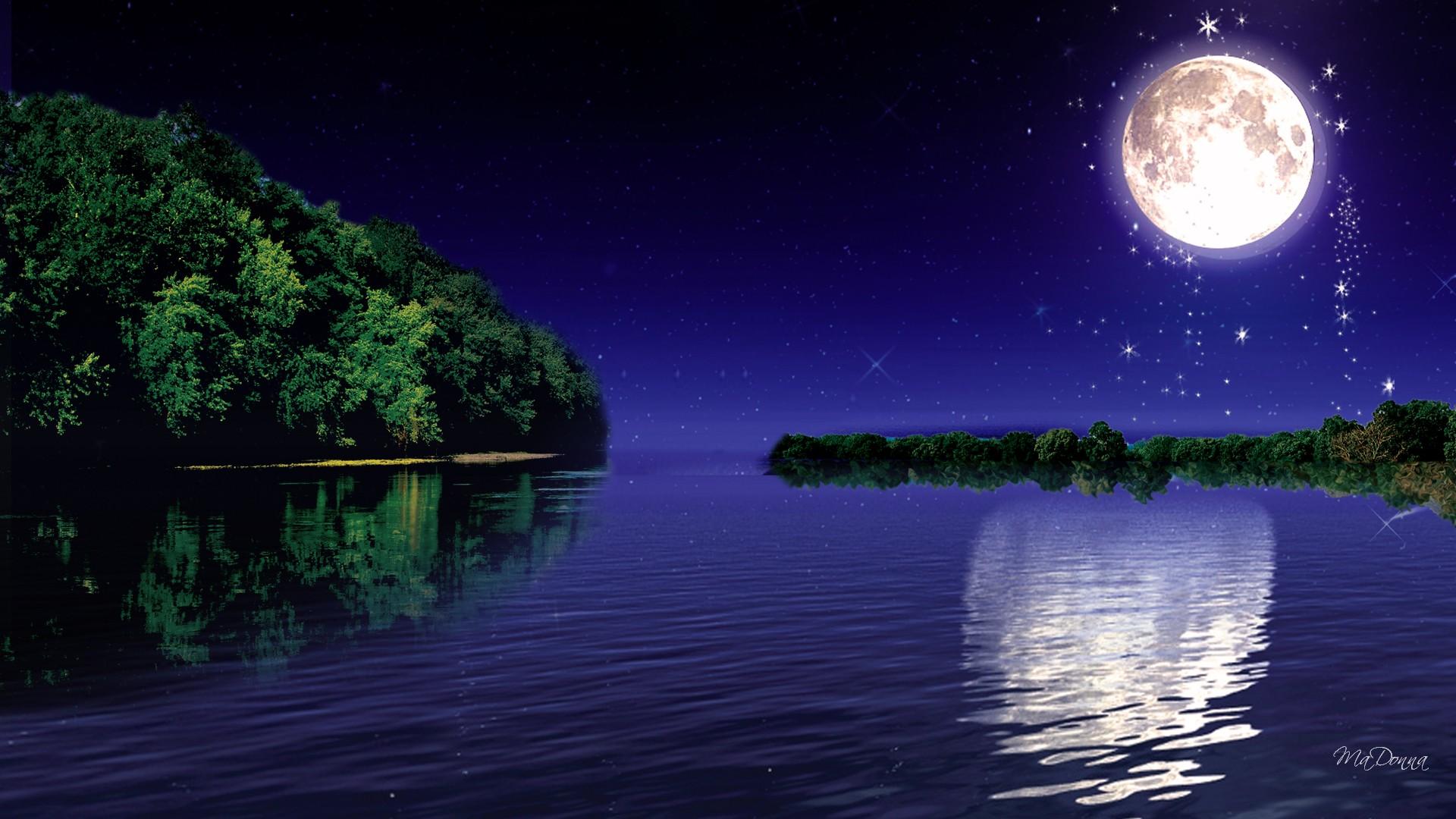 Moonlight Desktop Wallpaper Free Wallpaper
