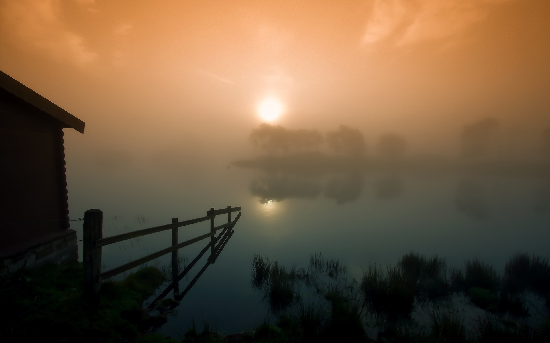 Morning Fog Background 14056