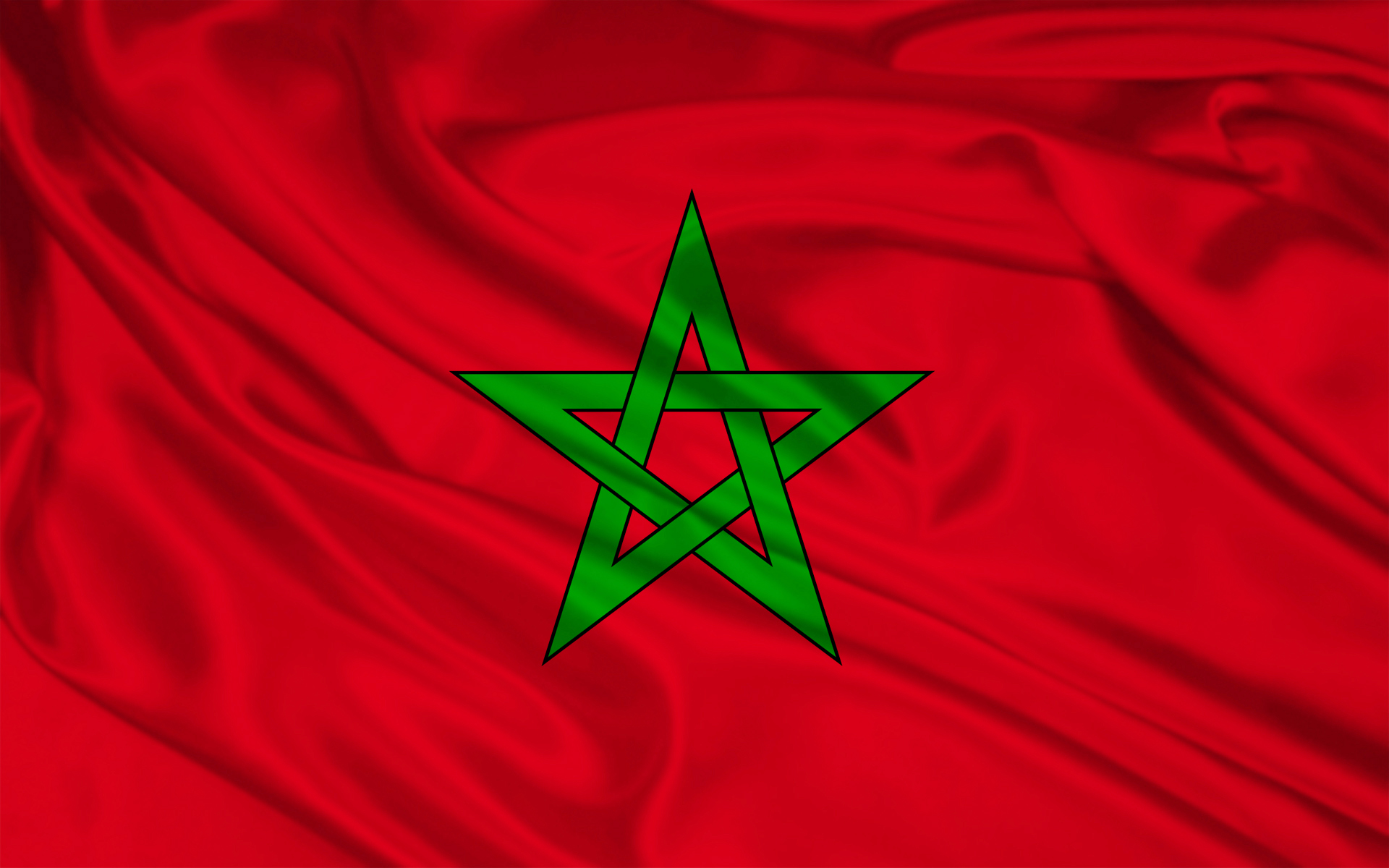Morocco Flag Wallpaper