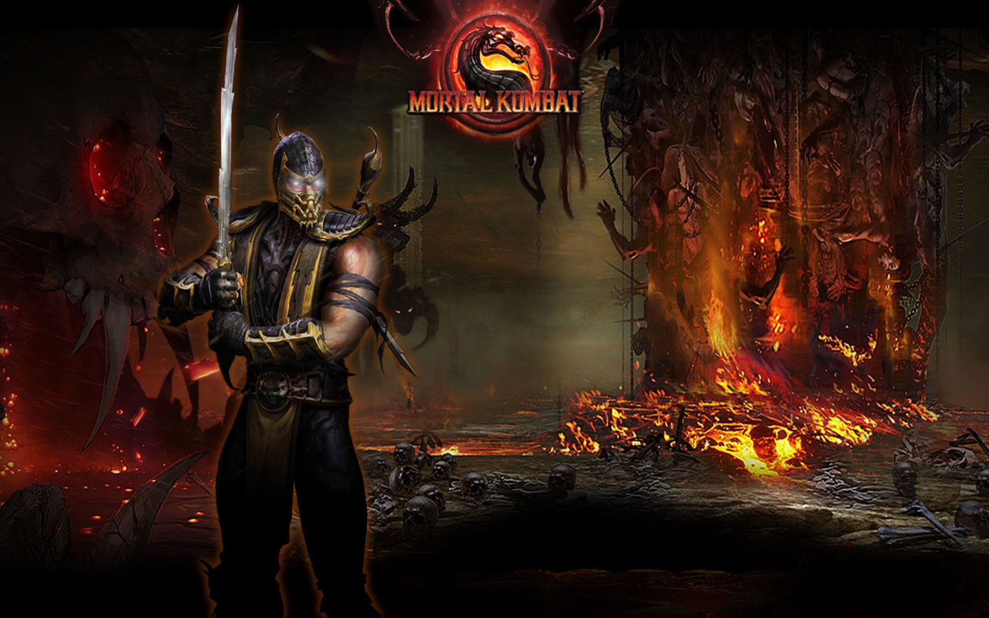Mortal Kombat 9 Background
