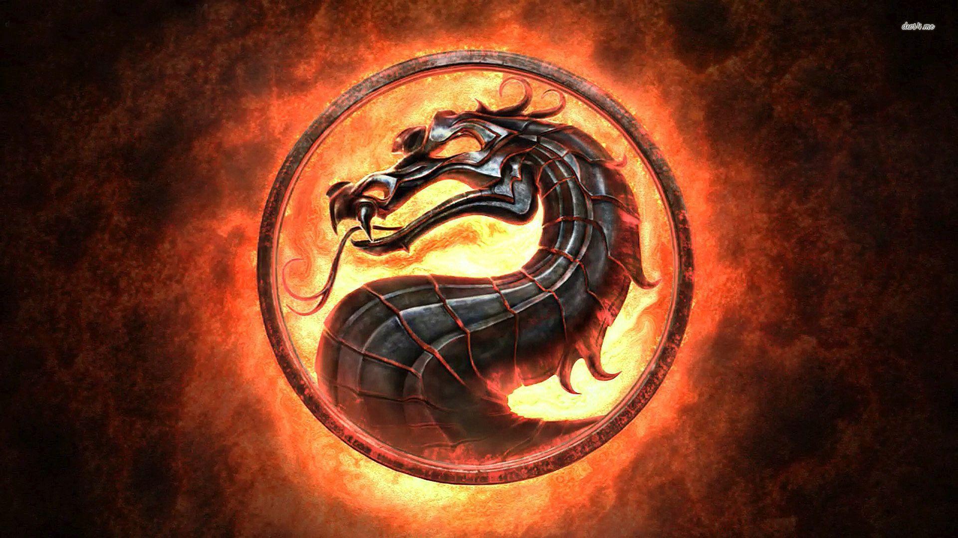 ... Mortal Kombat Dragon Logo wallpaper 1920x1080 ...