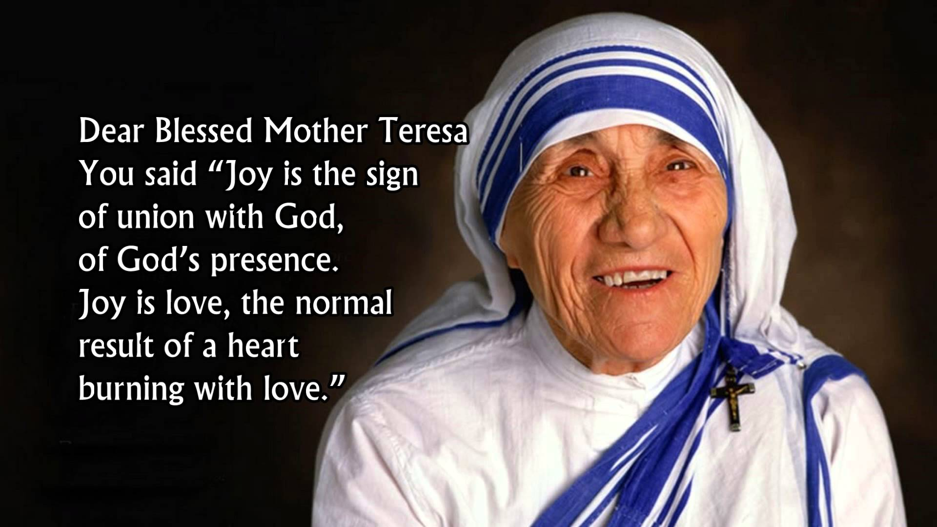 Daily Novena Prayer to Blessed Mother Teresa : Day 7