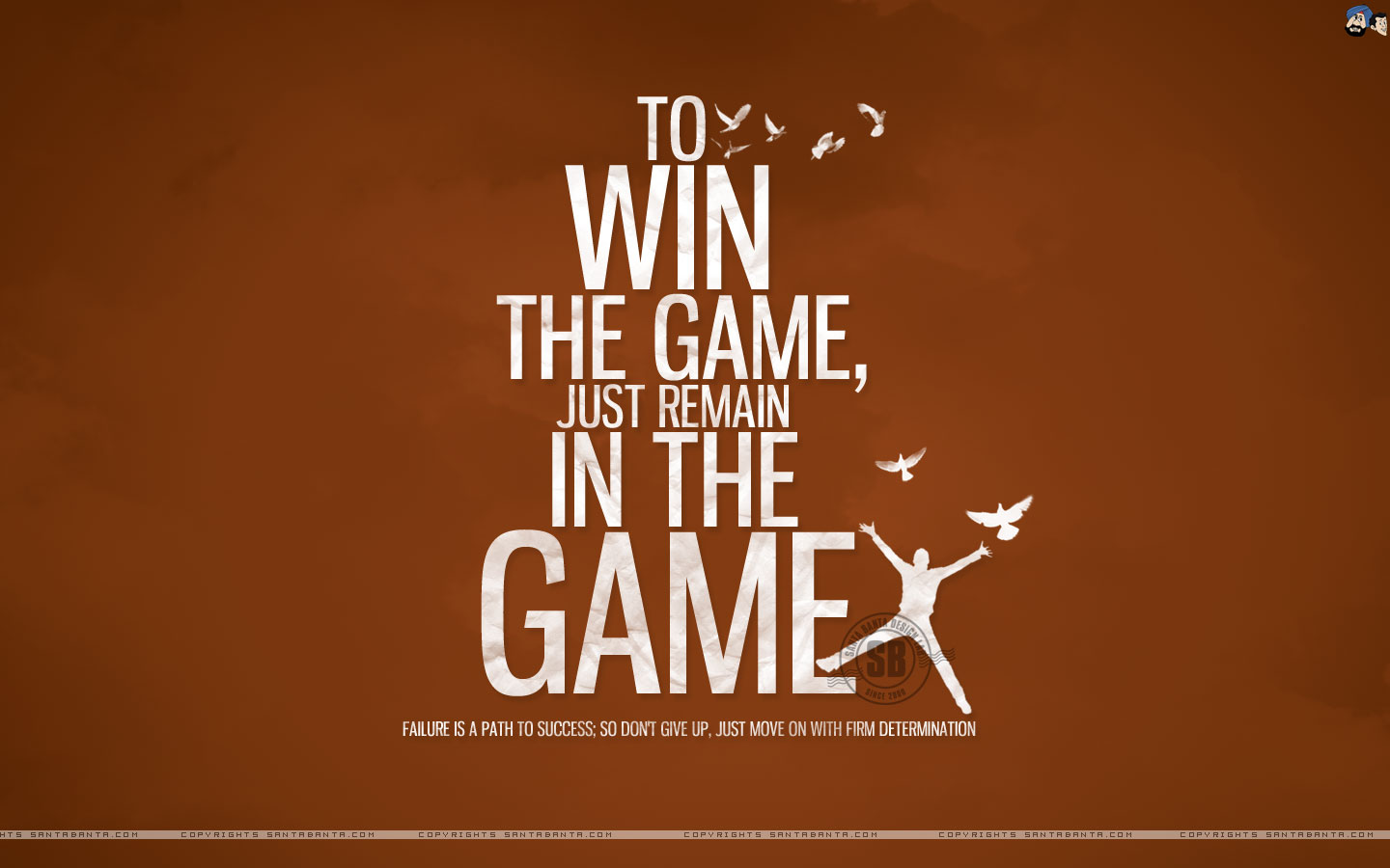 To win the game by SantaBanta.com