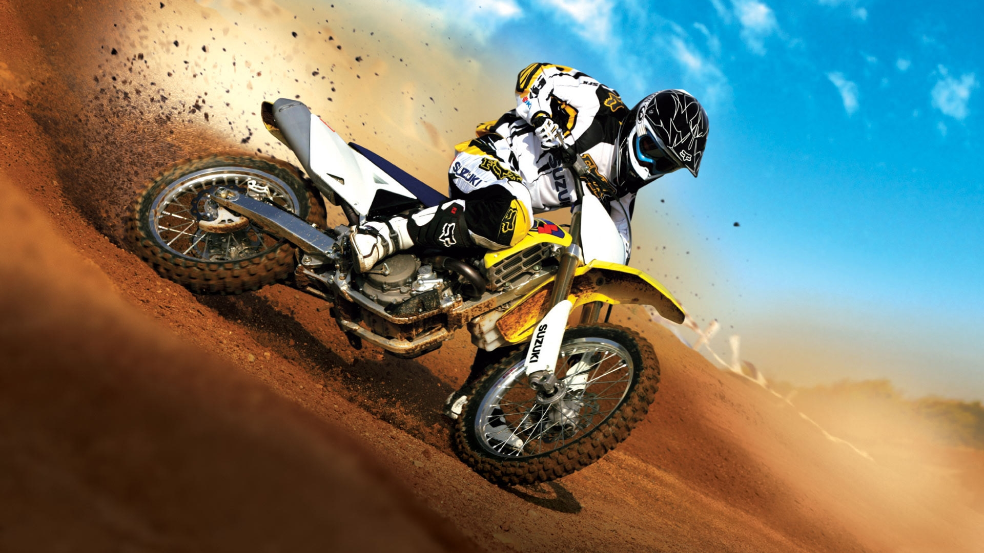 Motorcycle Wallpaper Yellow Action Cross iPhone Wallpaper 7541