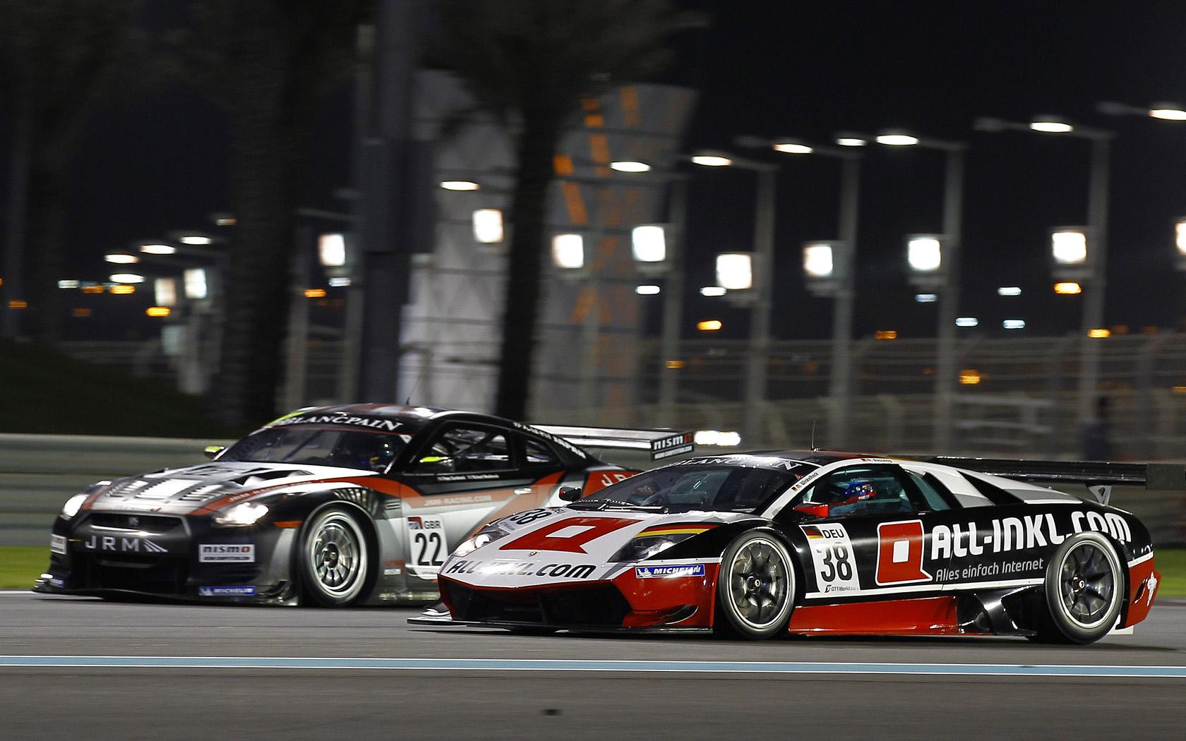 JR Motorsports Nissan GT-R & All-Inkl.com Lamborghini Murcielago 670 R