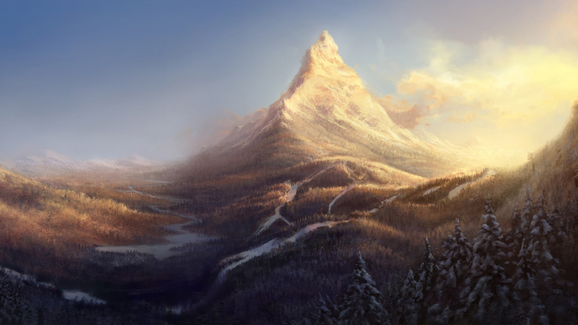 Mountain artwork
