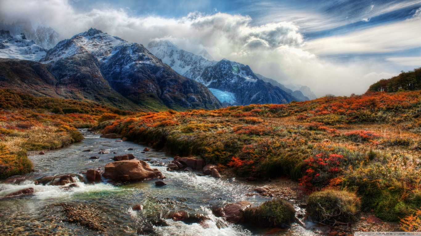 Mountain Stream Wallpaper HD