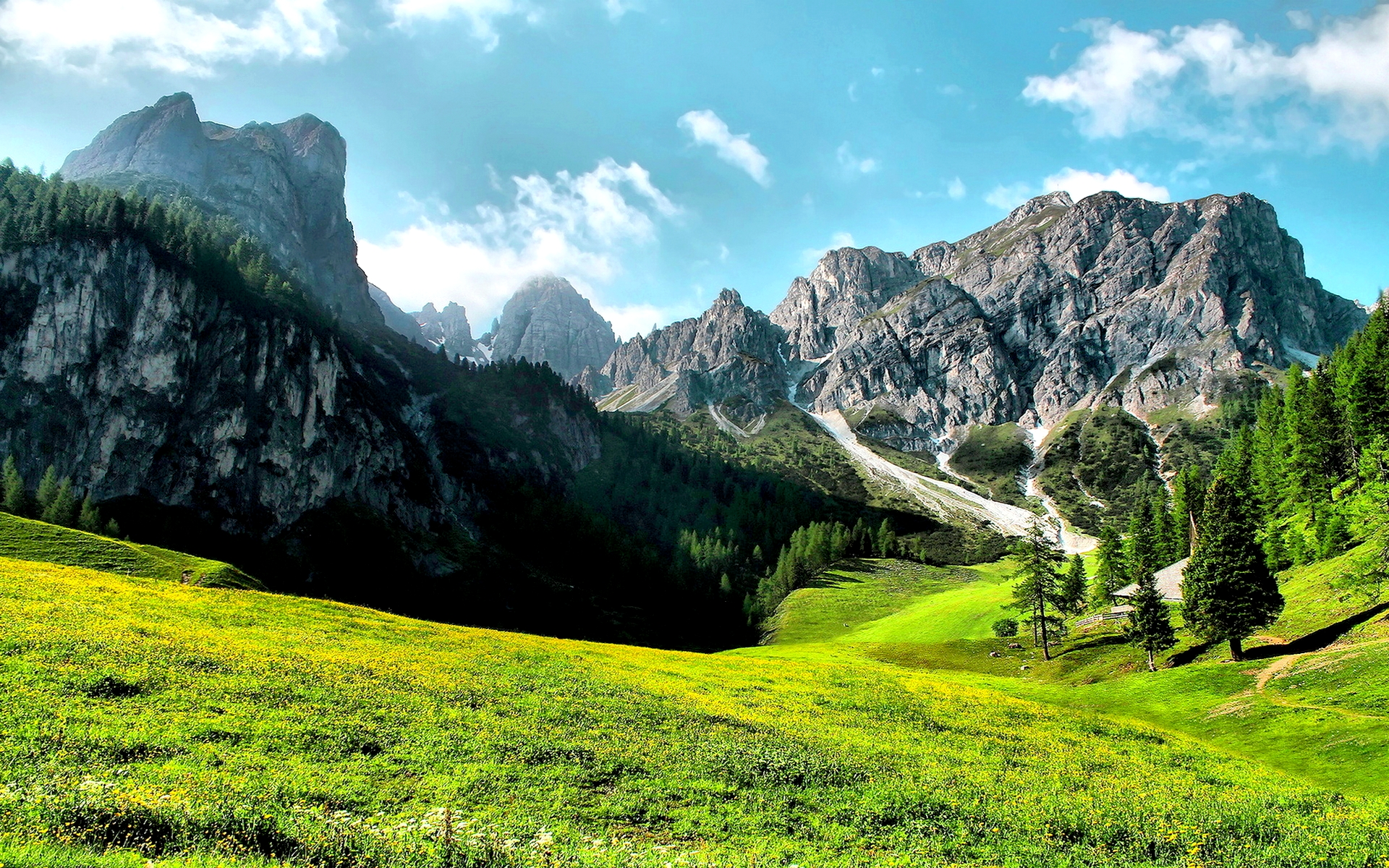 Mountain Valley Backgrounds 29913 1920x1200 px