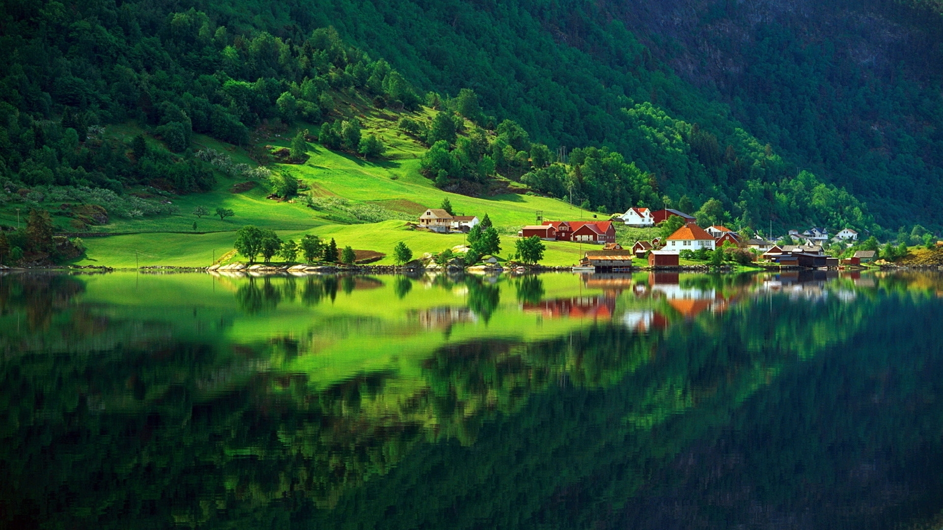 Mountain Village Reflection
