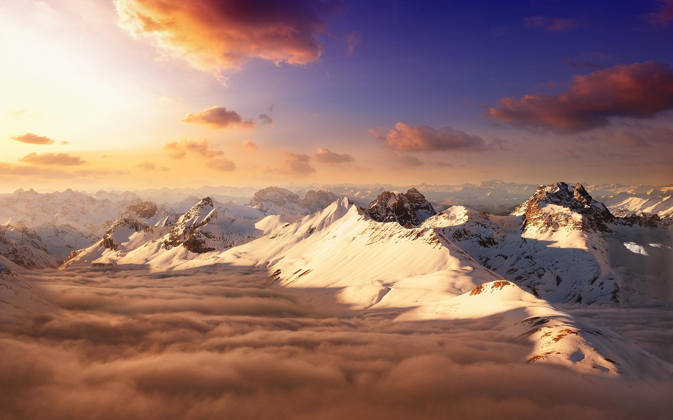 Mountains sky sunset