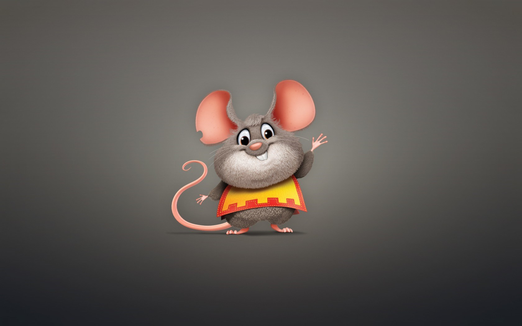 Mouse Rodent Animal Plump Minimalism Cartoon