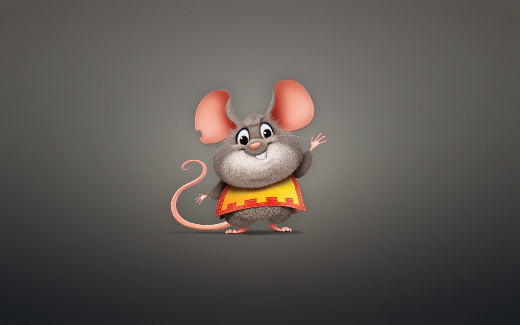 Mouse Rodent Animal Plump Minimalism Cartoon