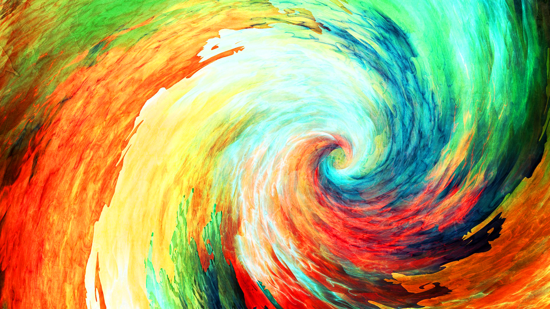 Color Swirl Abstract Painting
