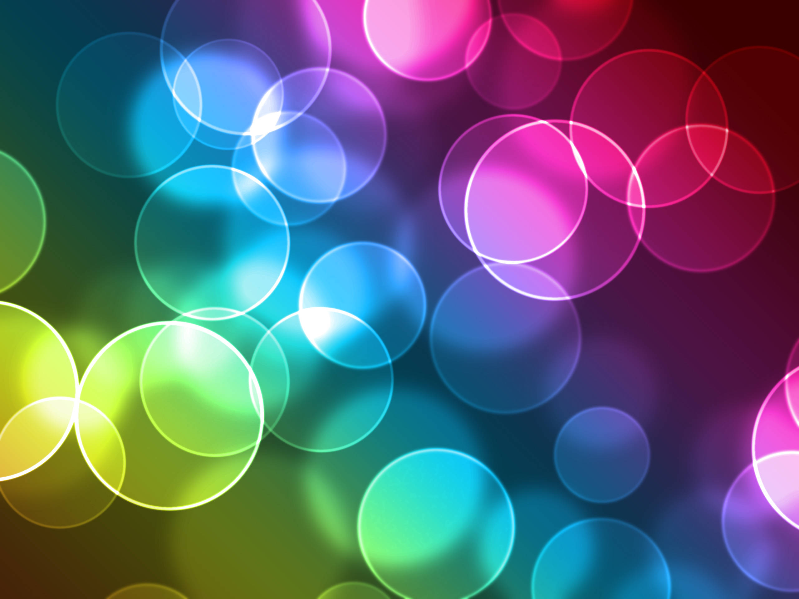 Multicolor Circles Wallpaper 1845