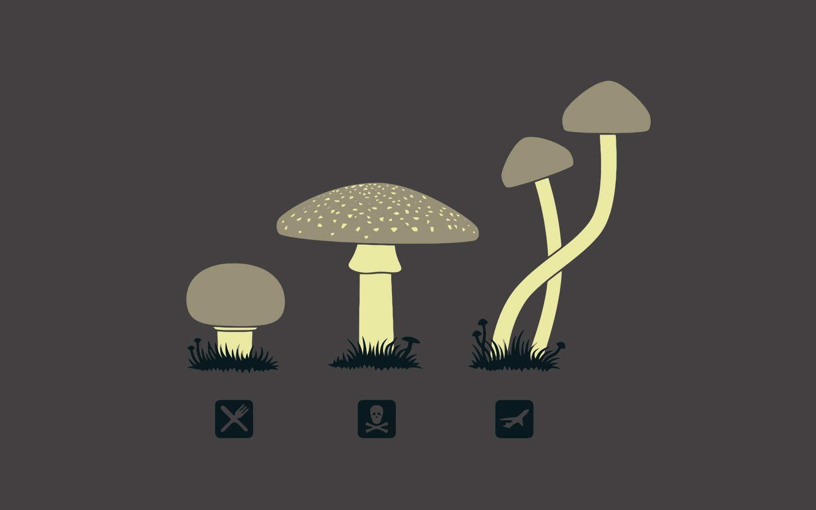 Mushrooms Art Funny