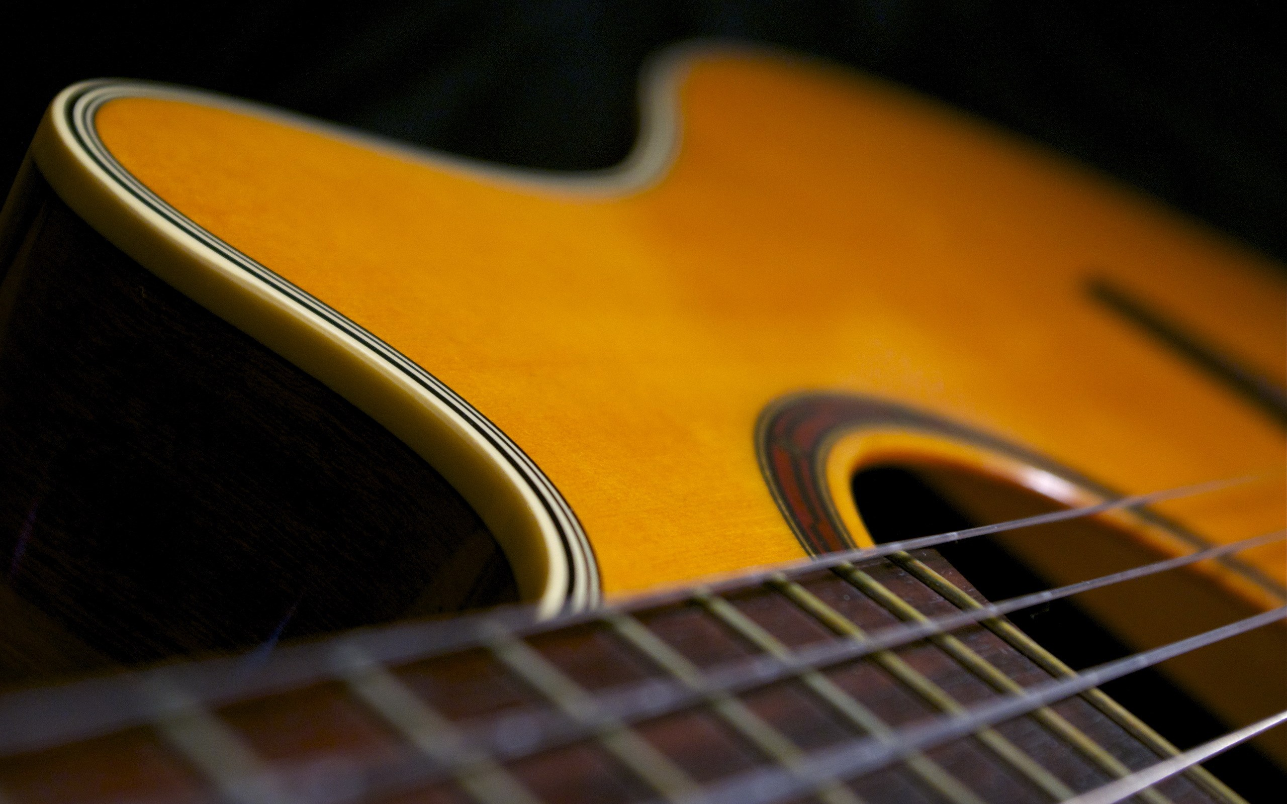 Music Guitars Close-Up