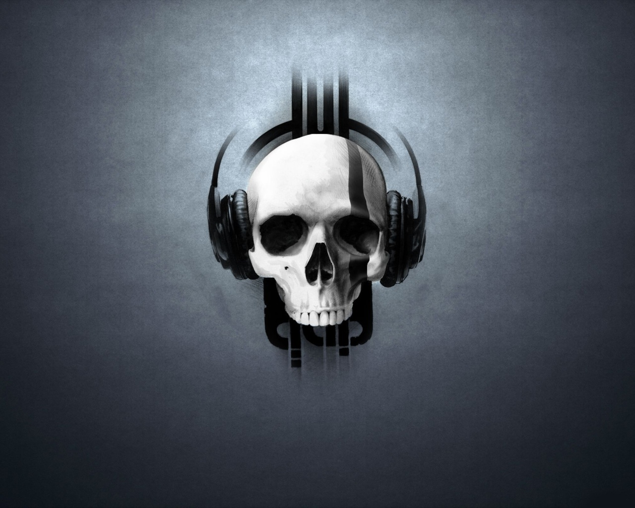 Music skull headphones