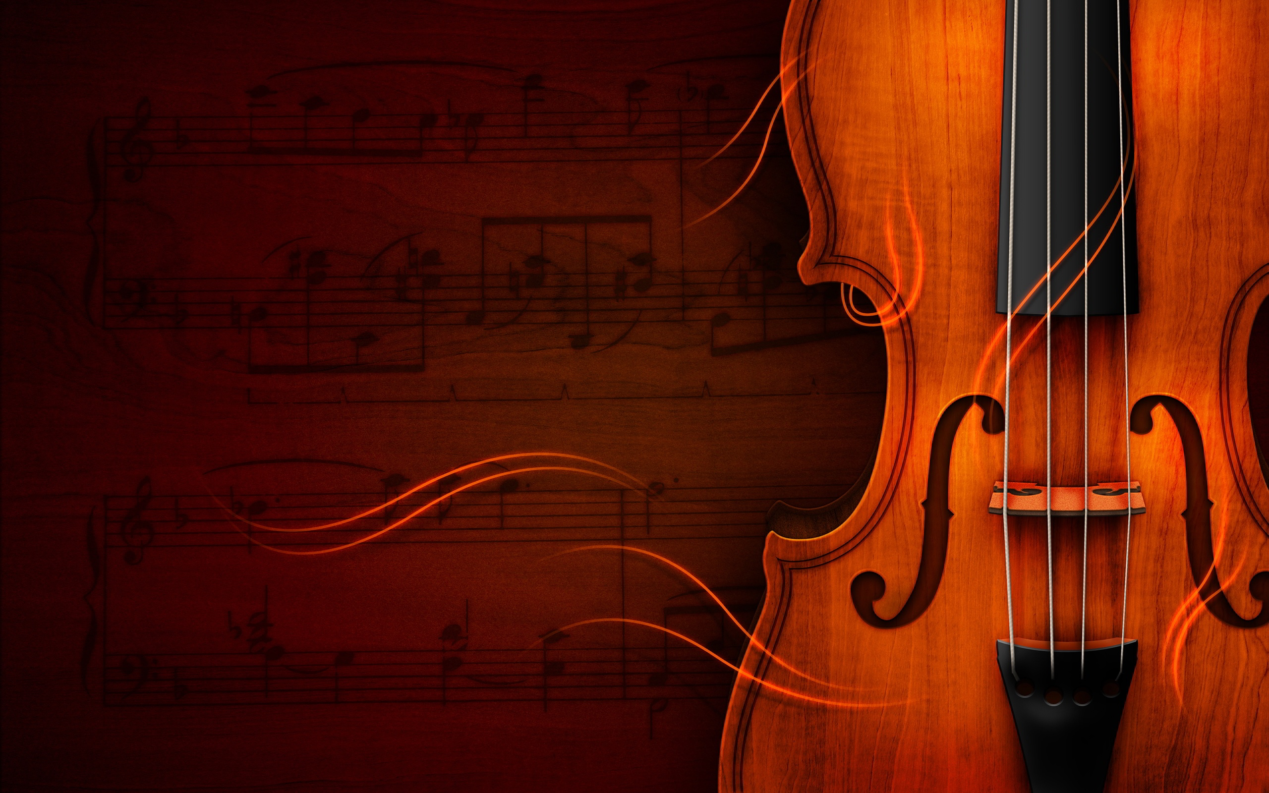 Description: The Wallpaper above is Music violin notes Wallpaper in Resolution 2560x1600. Choose your Resolution and Download Music violin notes Wallpaper
