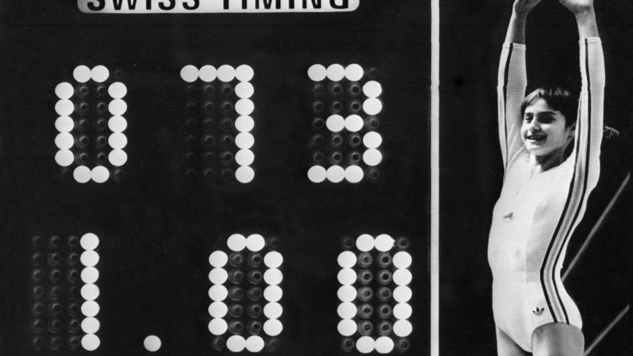 Nadia Comaneci Scores 1st Perfect 10 in Olympics History in 1976 - Greatest Sporting Moments