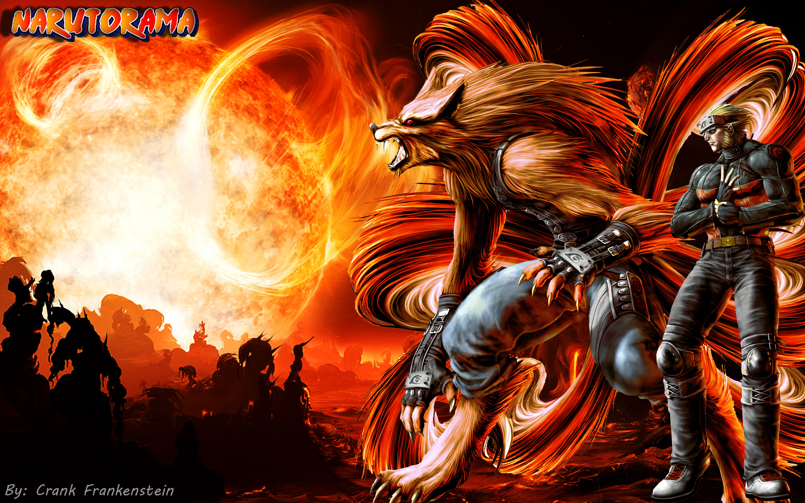 2560 x 1600 - 3542k - jpg 6836 Nine-Tails and Naruto ...
