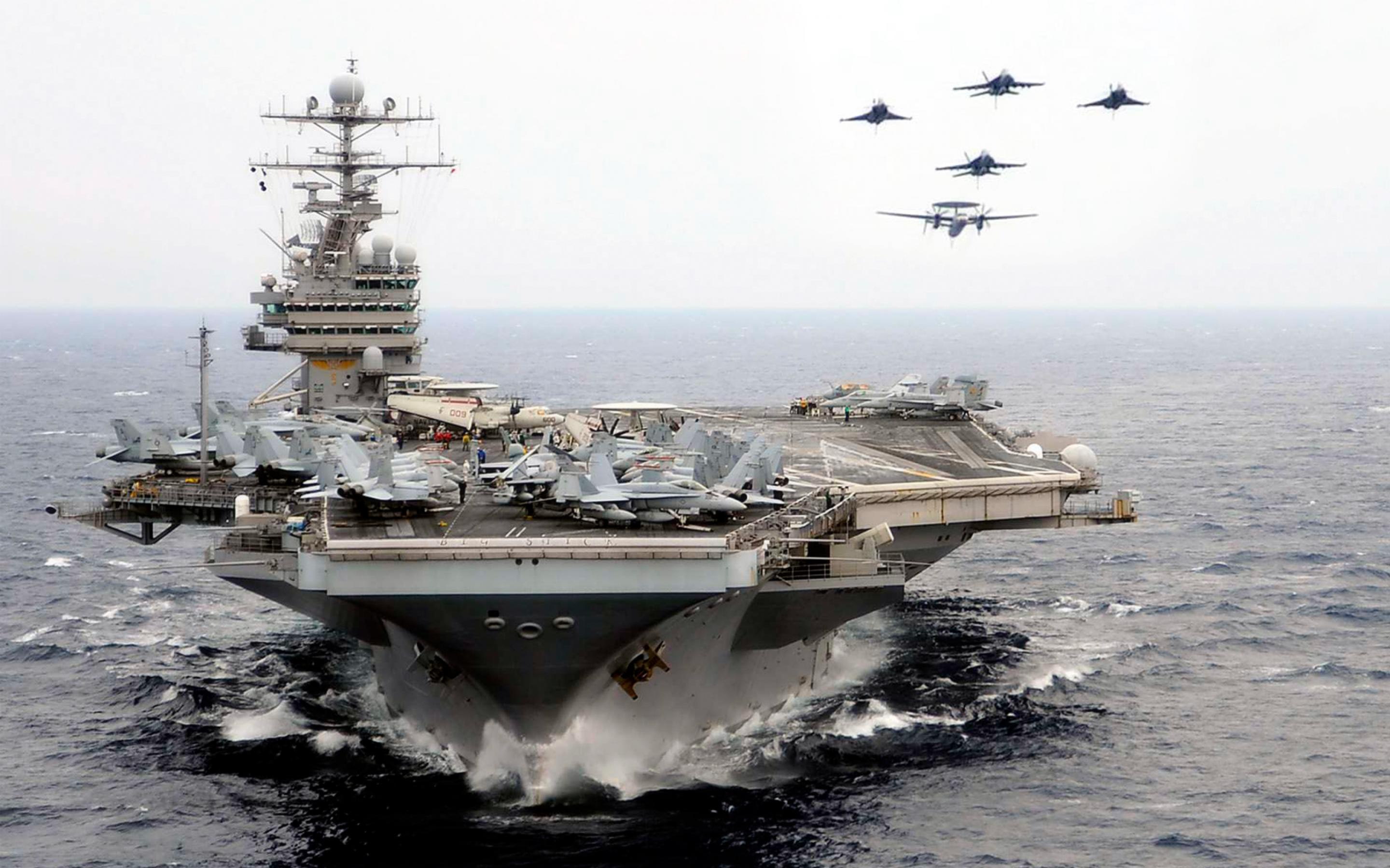 Astounding U S Navy Aircraft Carrier Theodore Roosevelt Wallpaper