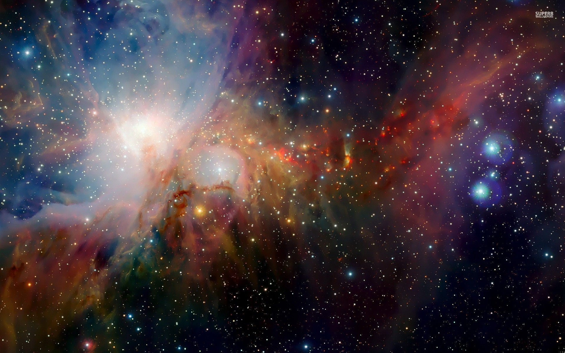 Colorful nebula wallpaper 1920x1200 jpg
