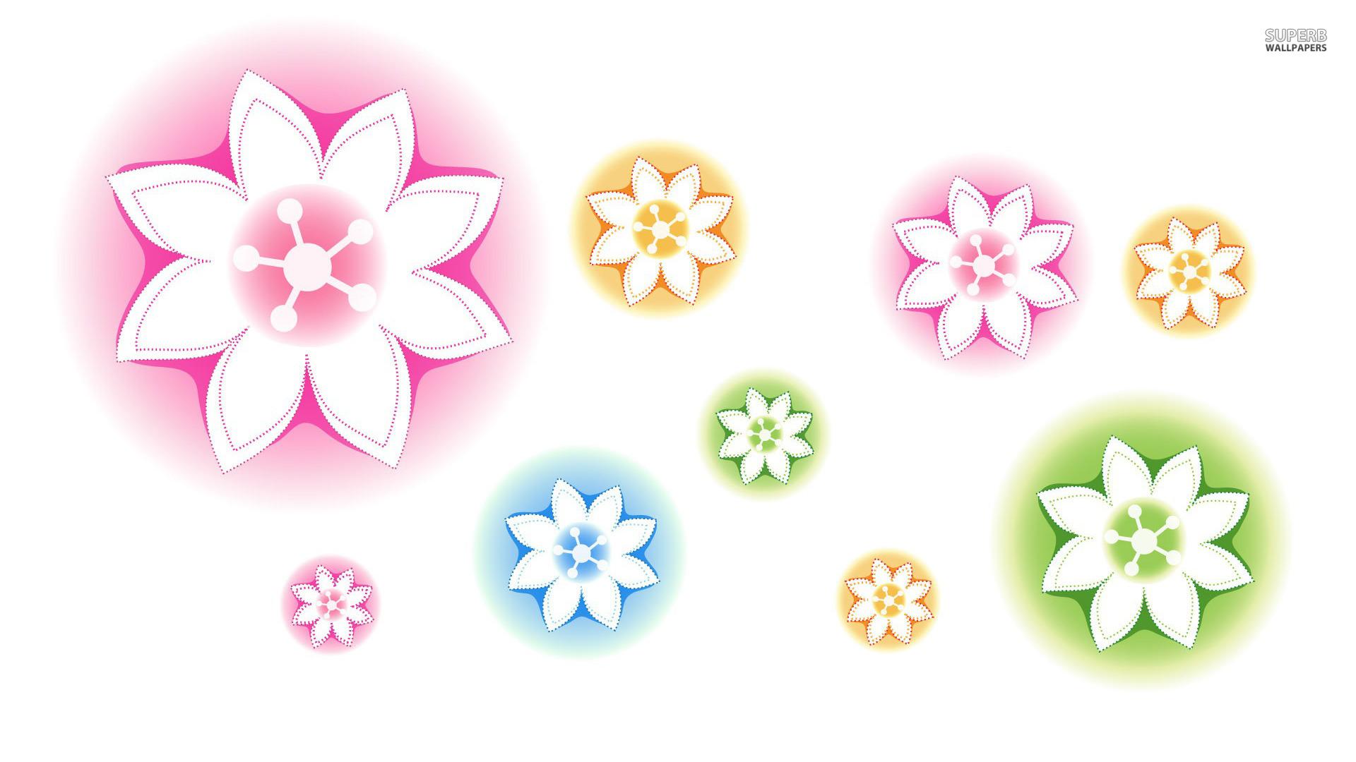 Neon flowers wallpaper 1920x1080