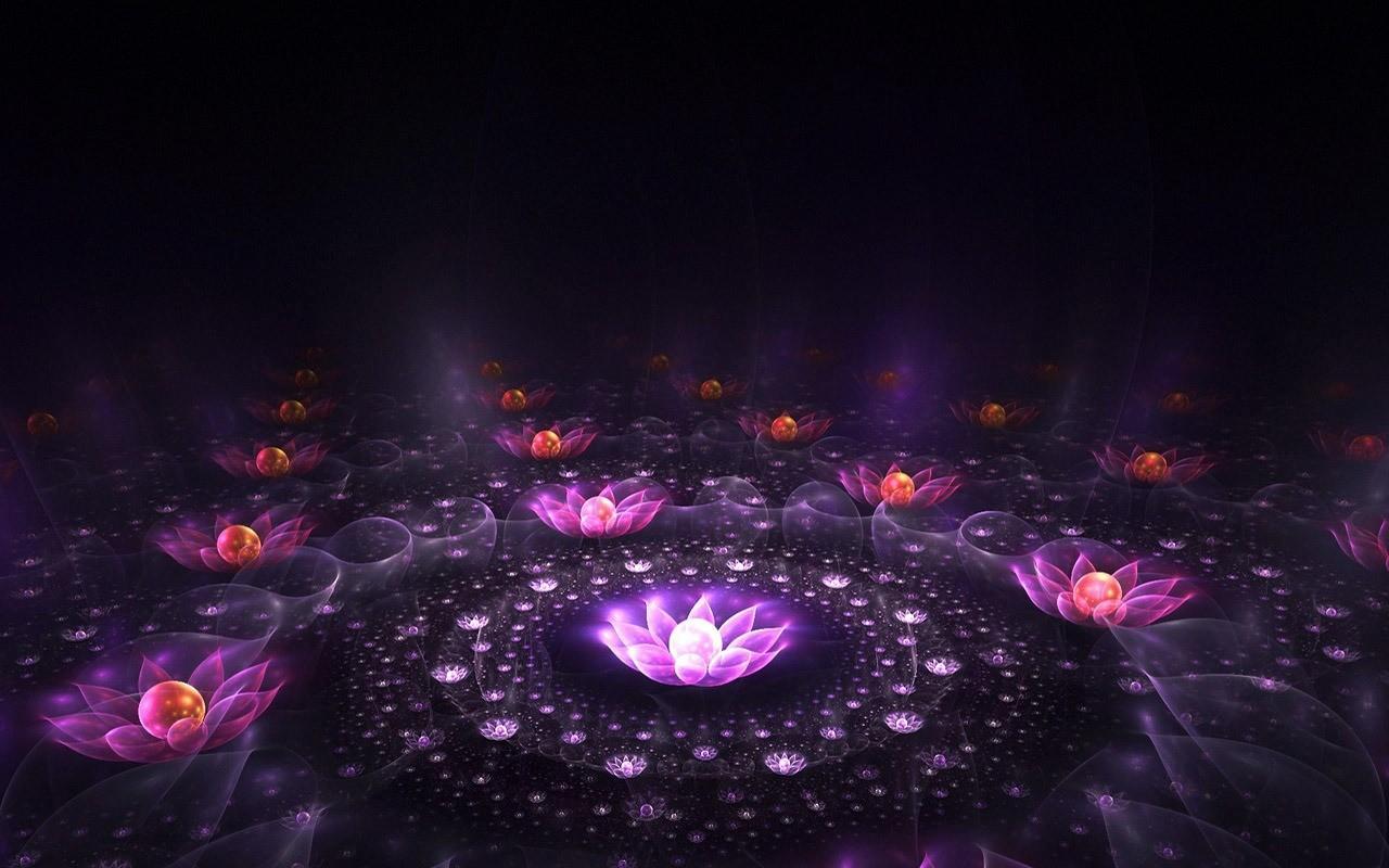 Neon Flowers 13296 1280x800 px
