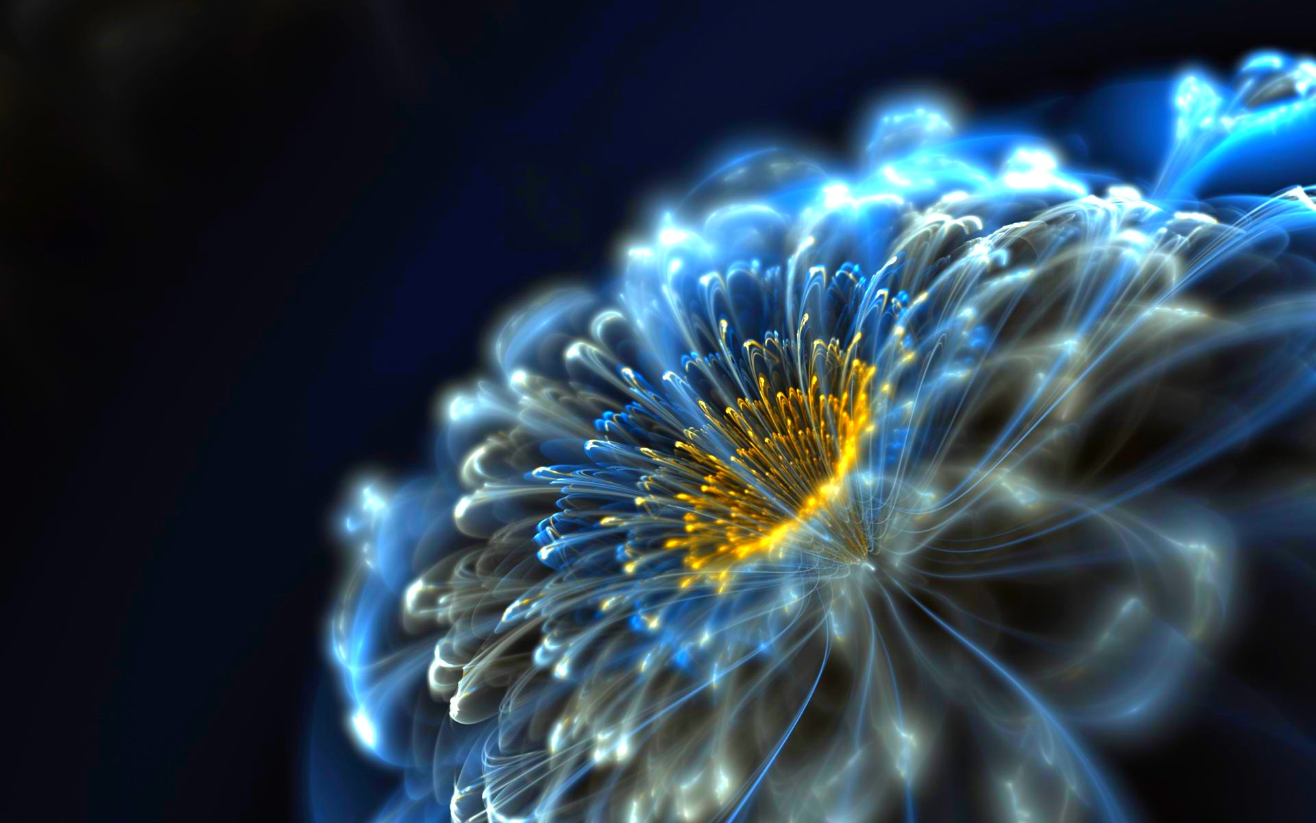 Awesome Neon Flowers Wallpaper