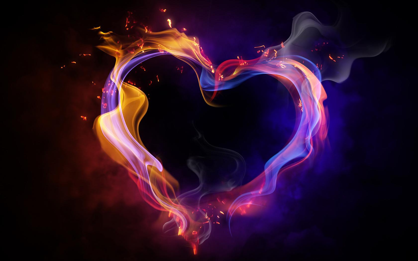Wallpaper Tags: heart romantic love colorful pretty neon bright beauty
