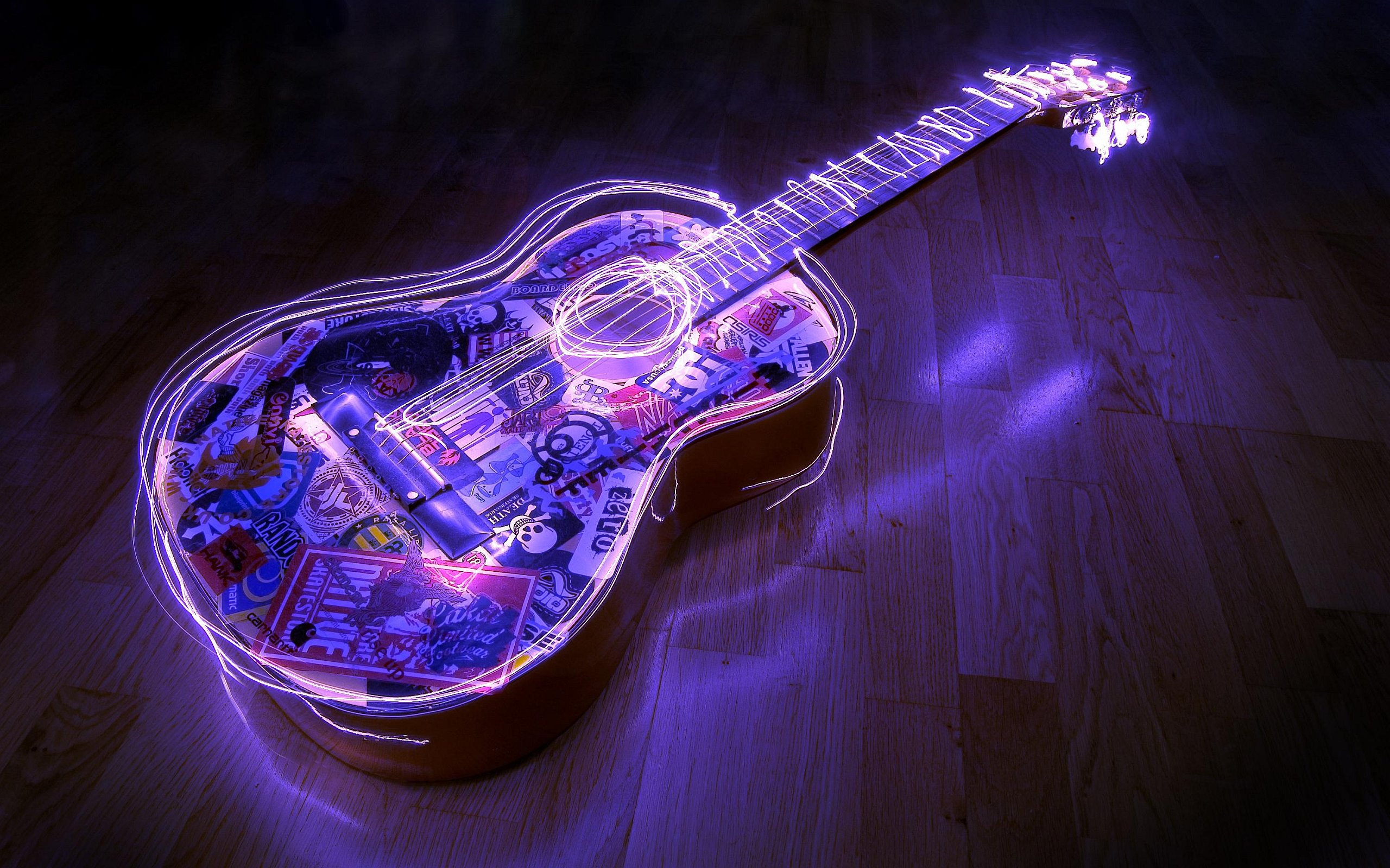 Neon Lights Guitar