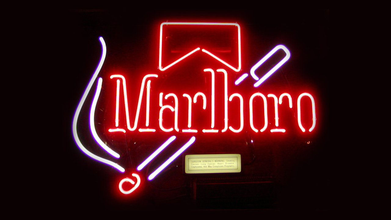 ... Marlboro Old-School Neon Sign HD Wallpaper by TouchOfGrey