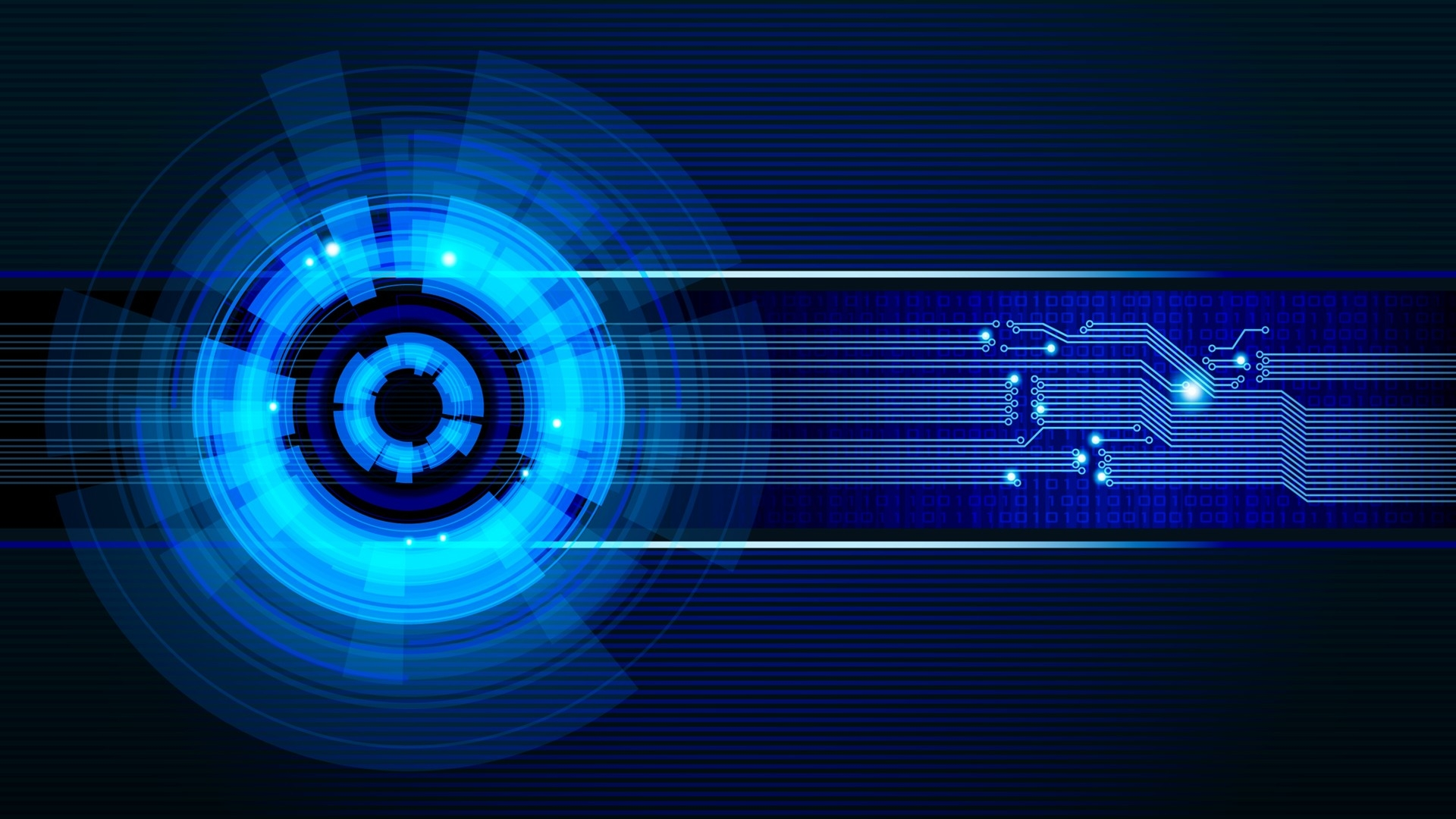Preview wallpaper neon, light, circles 1920x1080