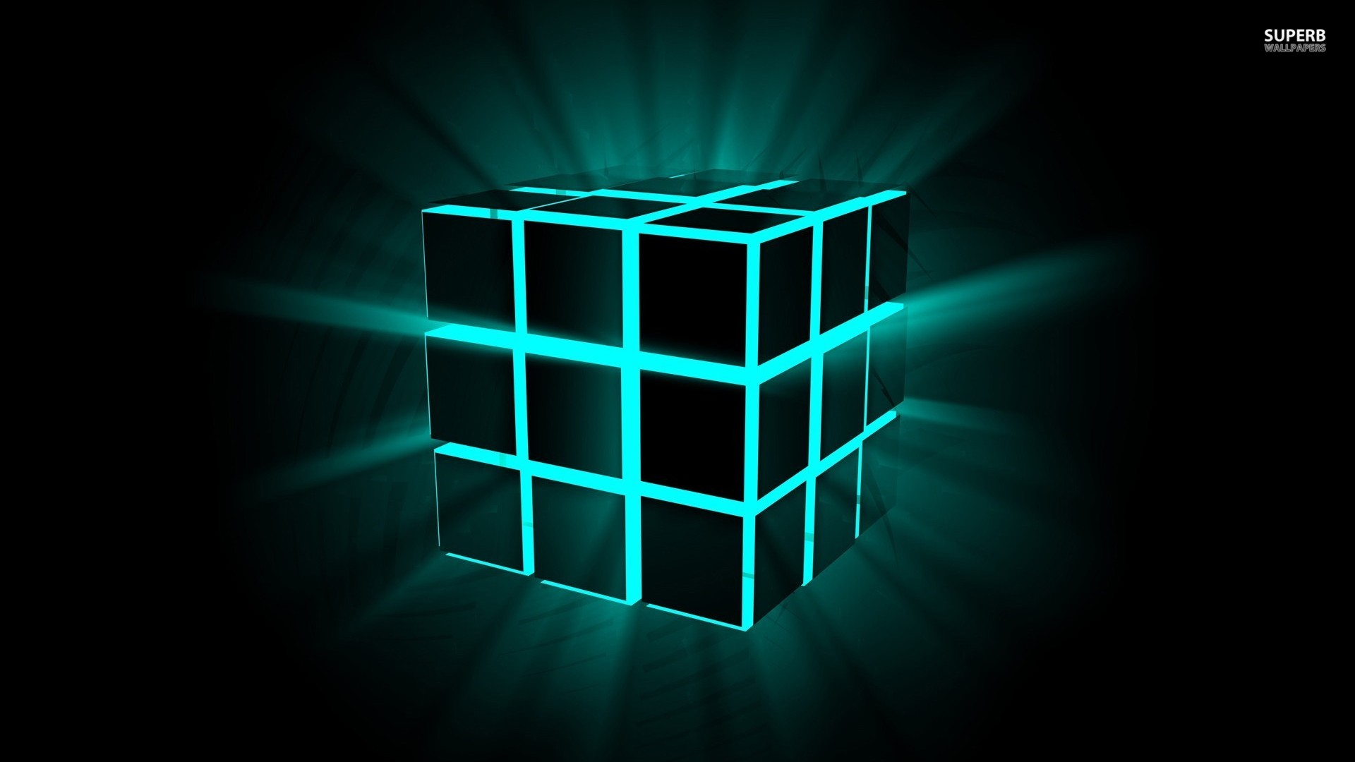 Neon cube wallpaper 1920x1080