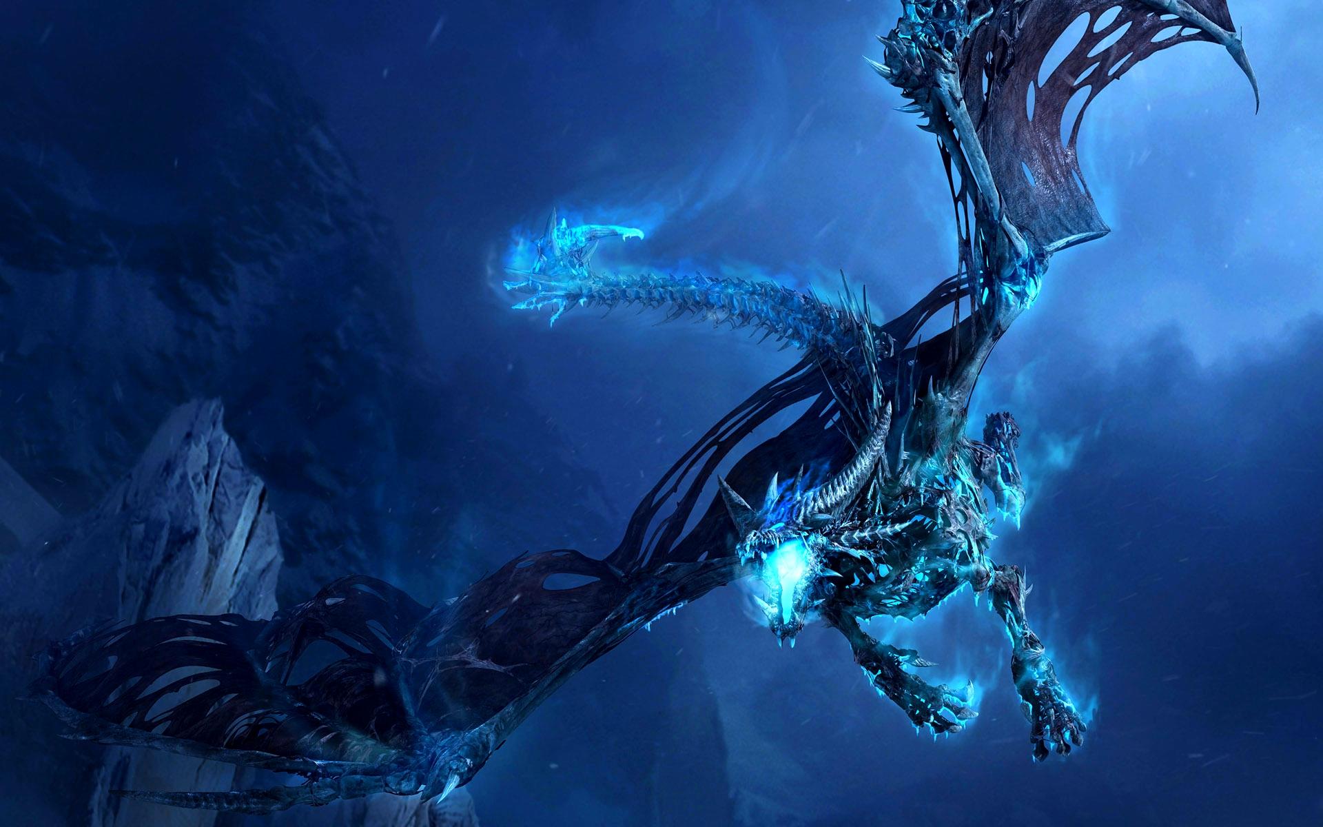 neon wallpaper skeleton dragon