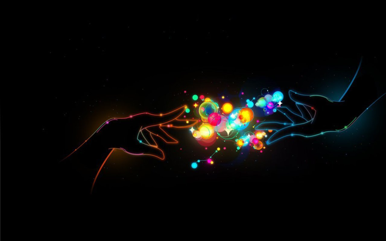 Amazing Hand Neon Wallpaper Desktop 410