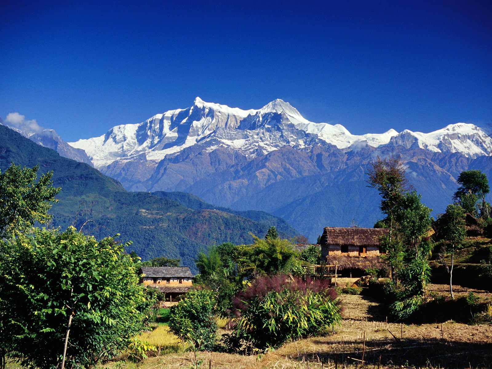 Nepal is a very mountainous area situated next to China and India. There are many valleys and hills that are standing in the way of relief efforts.