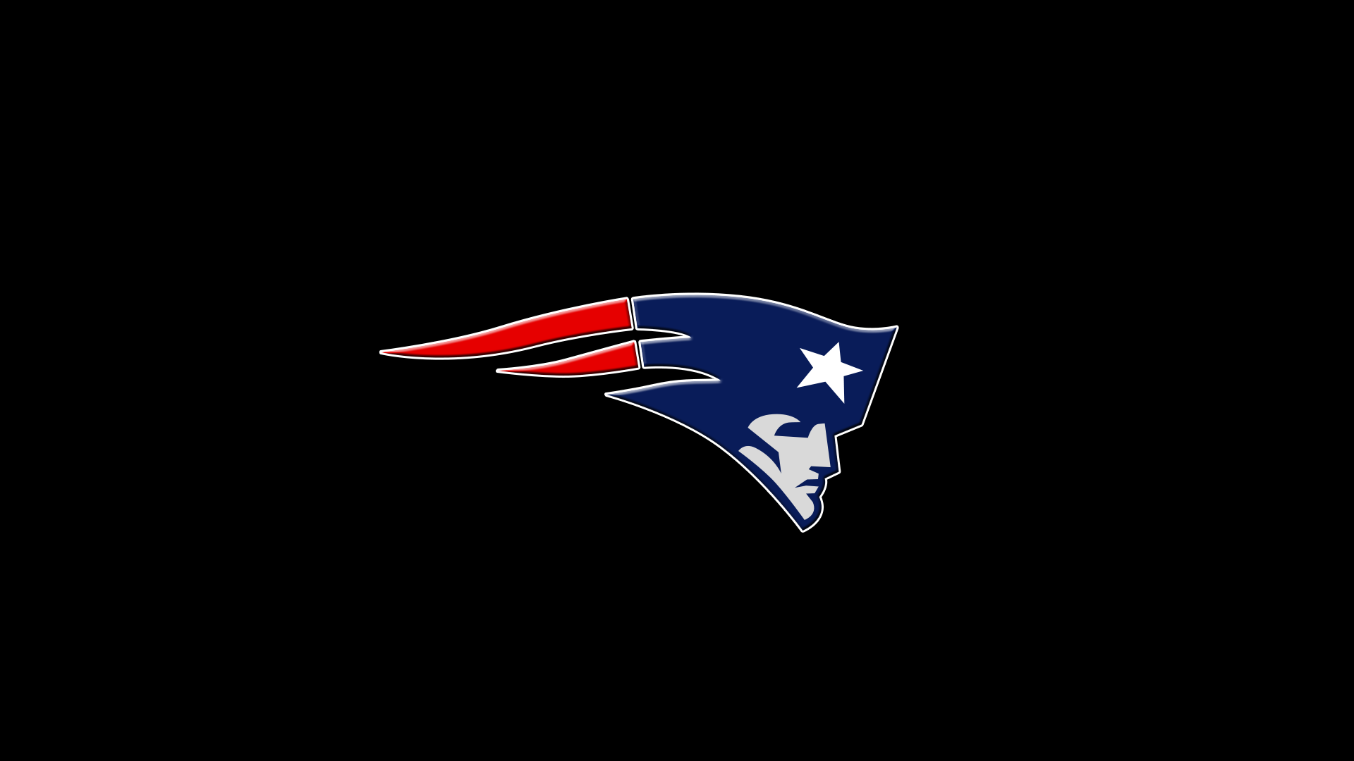 New England Patriots Logo Black Background