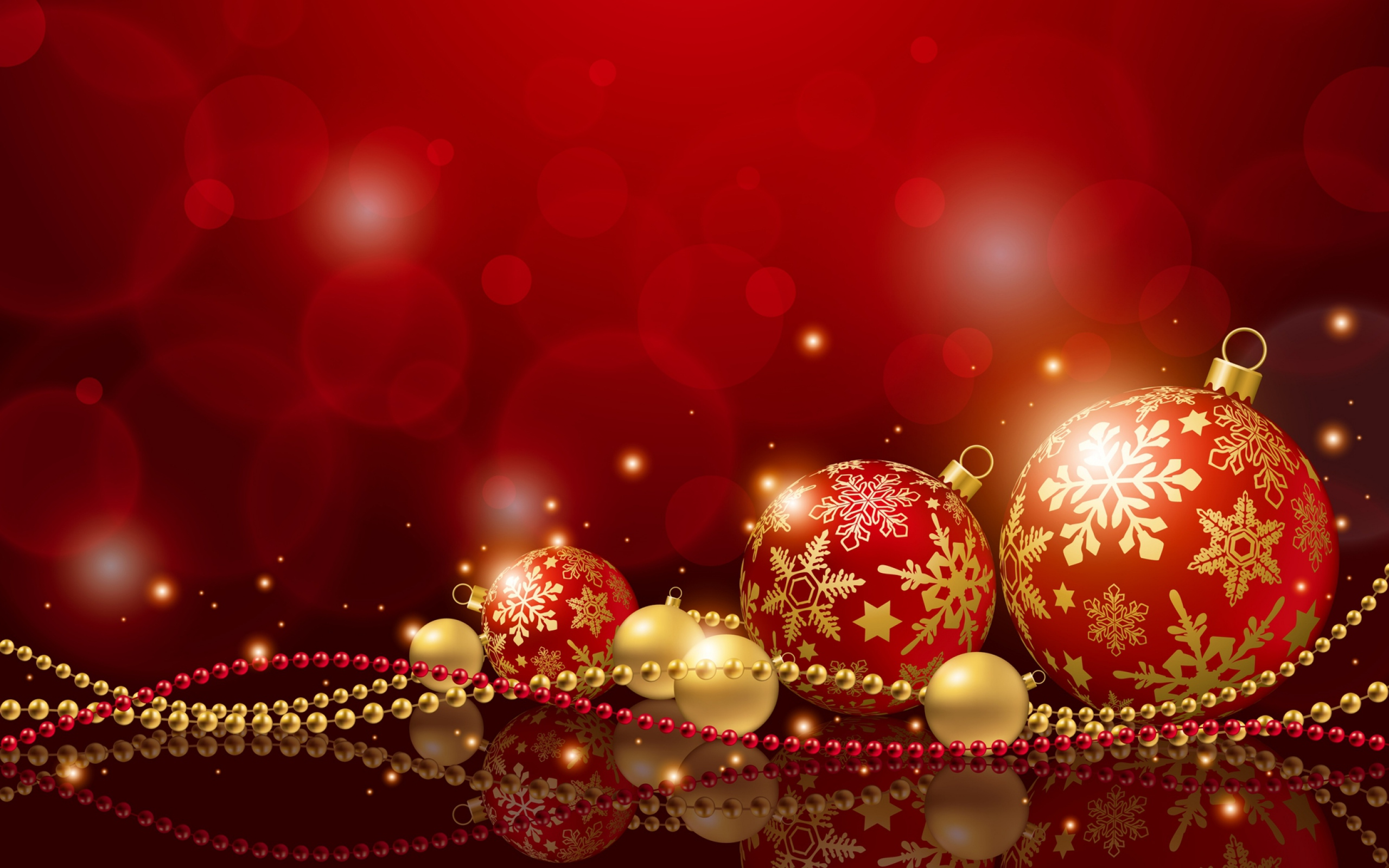 Preview wallpaper christmas, holiday, balls, new years decorations, new year 2560x1600