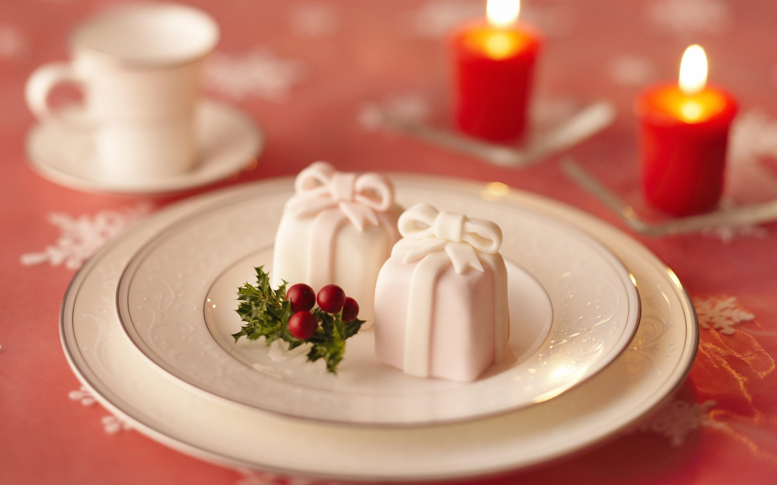 New Year Holiday Candles Gift Box Tape Ribbon Christmas