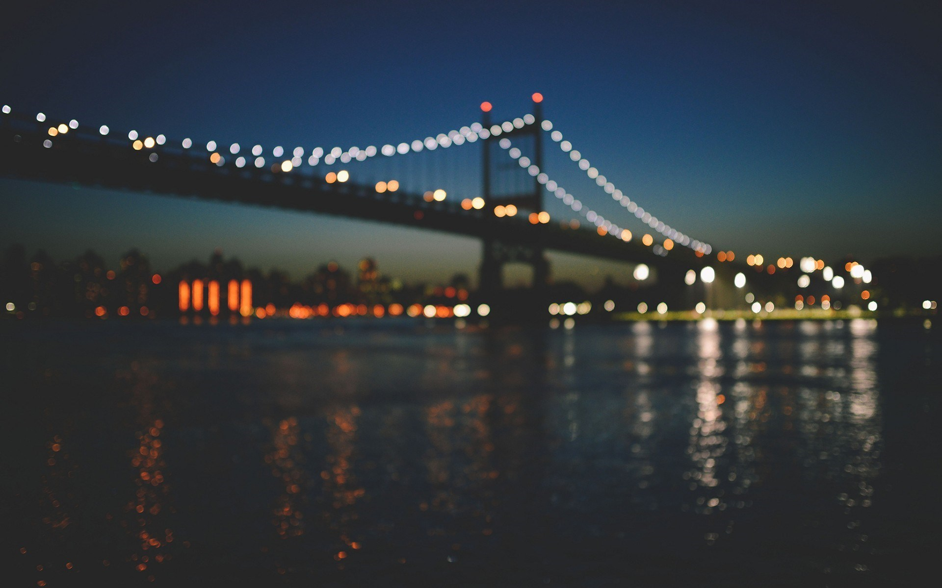 New York City Manhattan Bridge Bokeh Photo