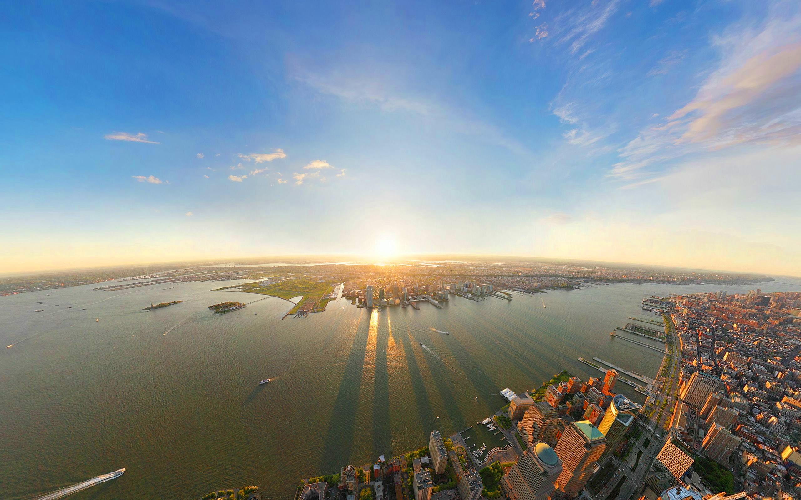 New york city sunrise panorama