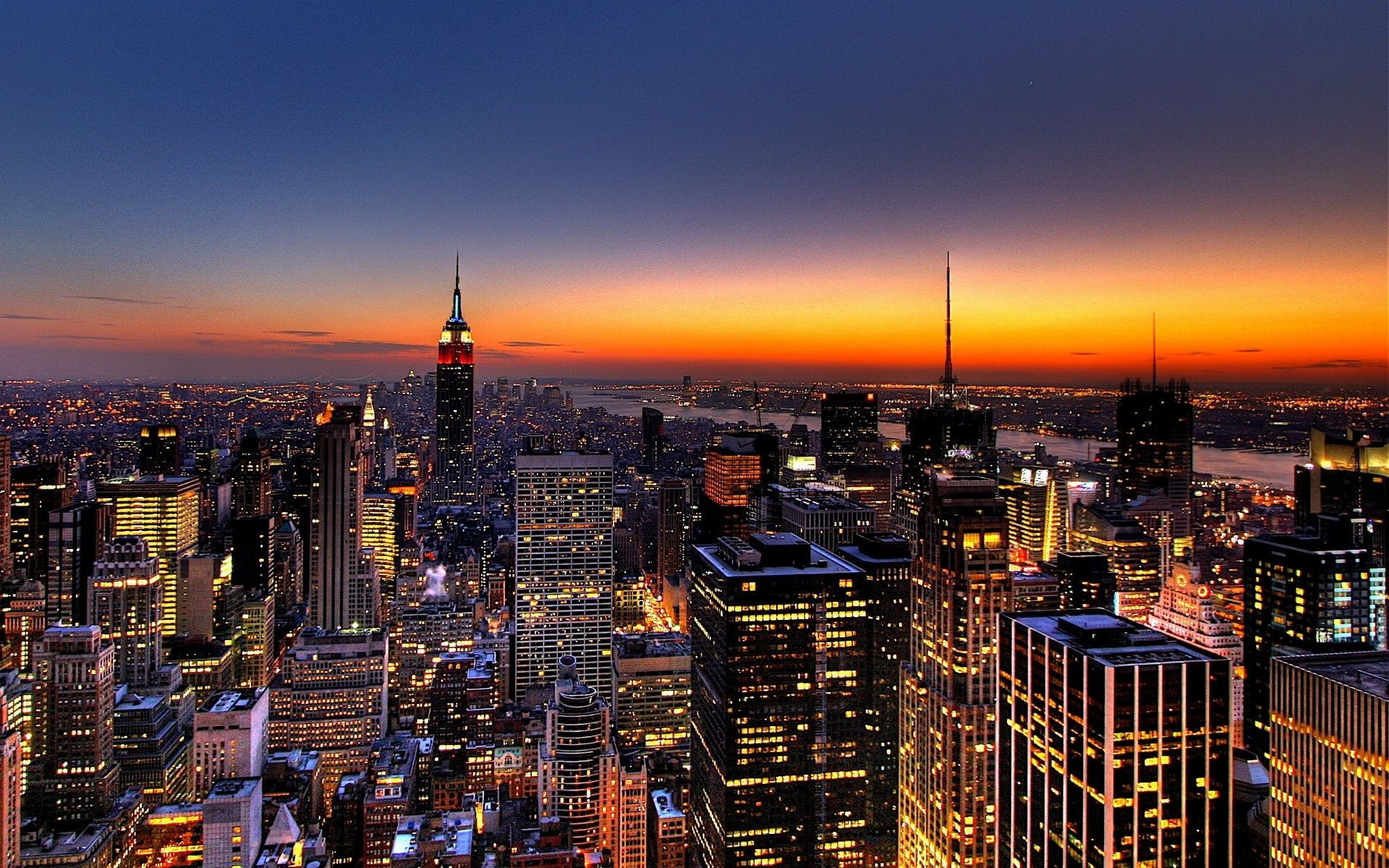New York City at Sunset (click to view)