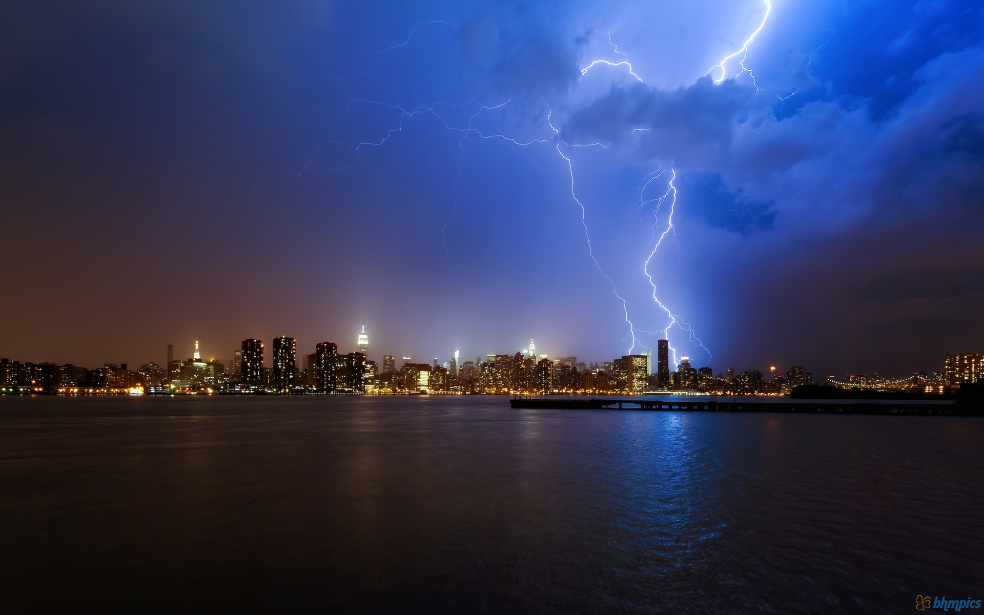 New York City Lightning Storm
