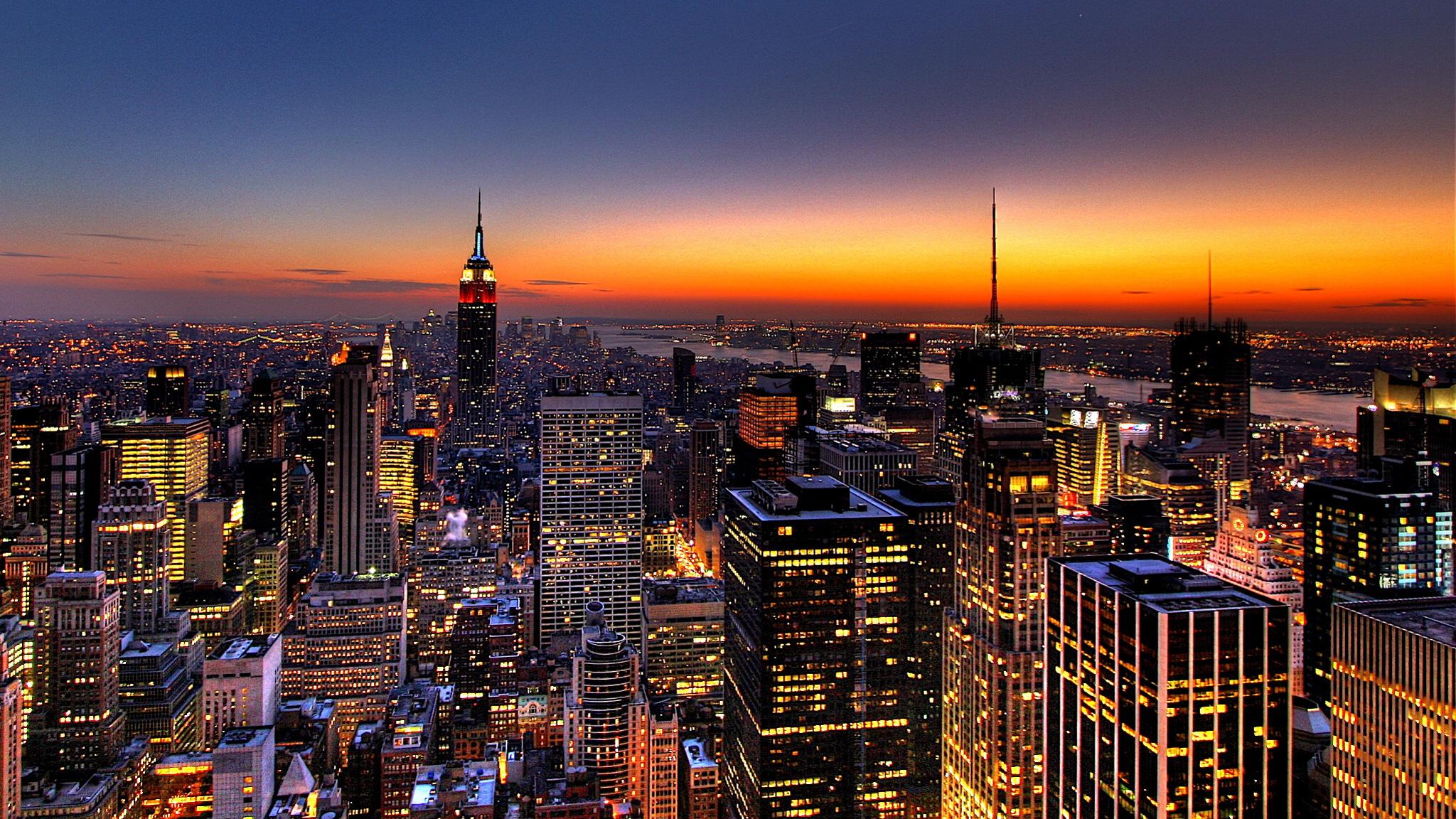 new york city night 2048x1152