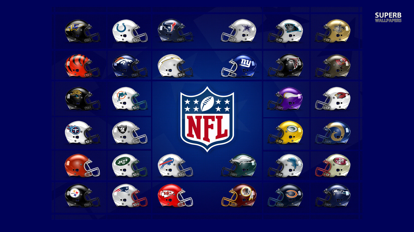 NFL Logos wallpaper 1366x768