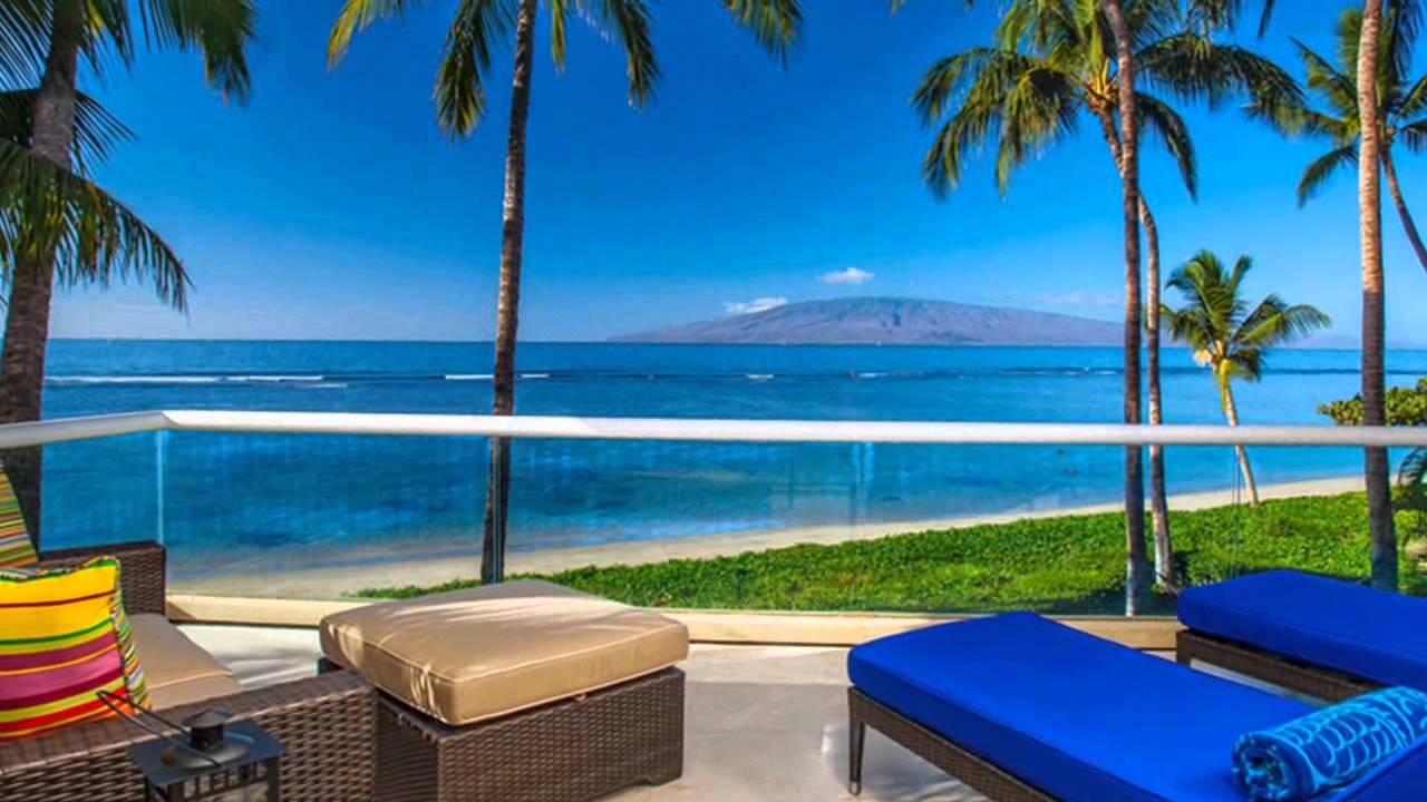Lahaina baby beach oceanfront house luxury vacation rental Maui Hawaii
